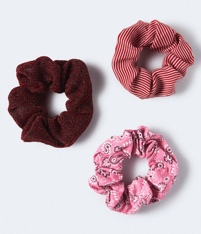 Sparkle Stripe Scrunchie 3-Pack