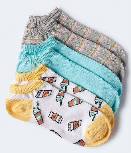 Coffee Cup Ankle Sock 3-Pack***
