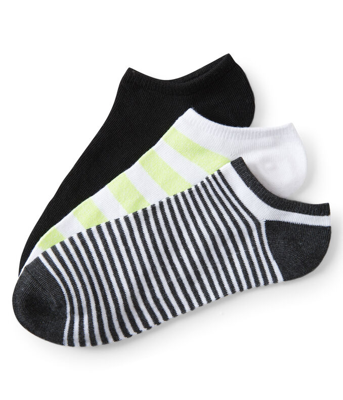 3-Pack Neon Stripe, Thin Stripe & Solid Ankle Socks