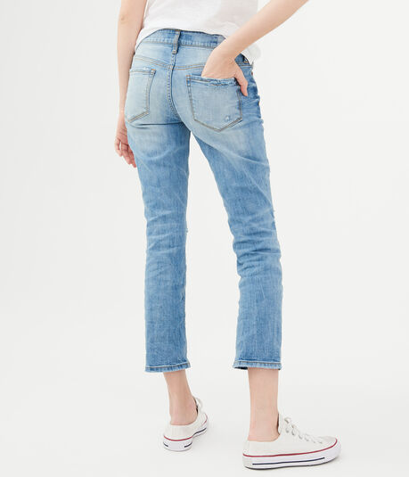 Low-Rise Ankle Straight Jean