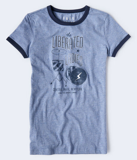 Free State Liberated Ladies Ringer Graphic Tee