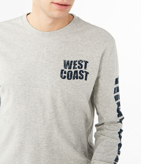 Long Sleeve West Coast Surf Graphic Tee