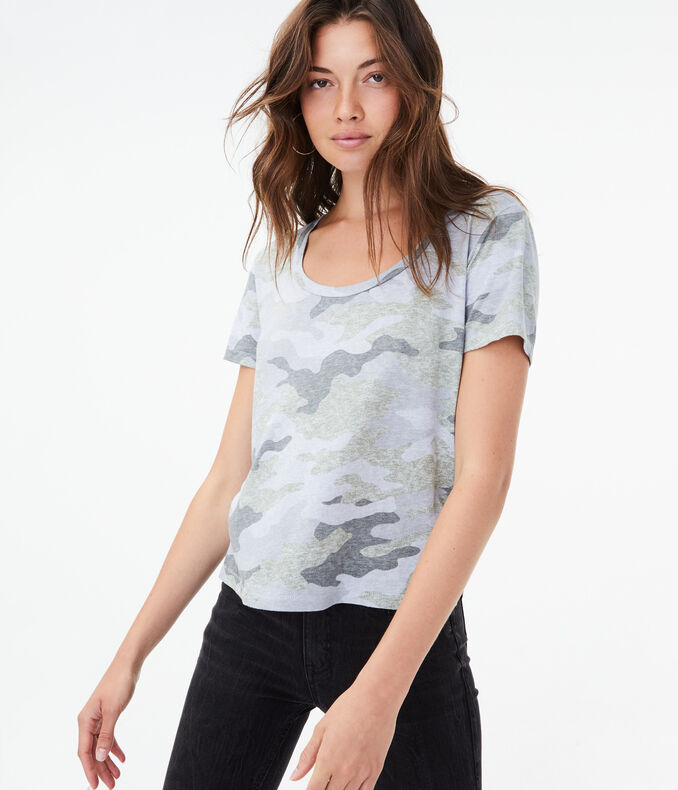 Perfect Camo Scoop Tee