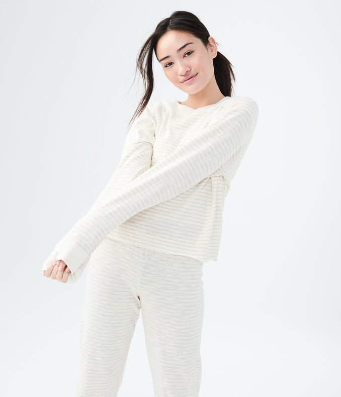 LLD Metallic Stripe Sleep Sweatshirt