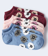 Fuzzy Sheep Ankle Sock 3-Pack