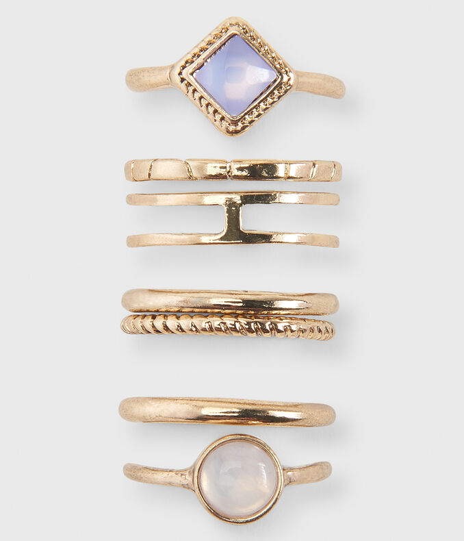 Cloudy Gem Ring 7-Pack