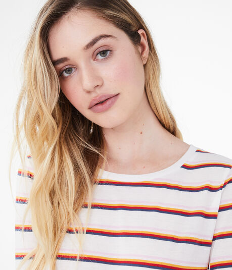 Long Sleeve Seriously Soft Multicolor Stripe Top