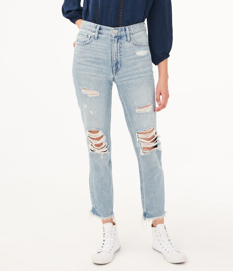 Real Denim High-Rise Ankle Mom Jean