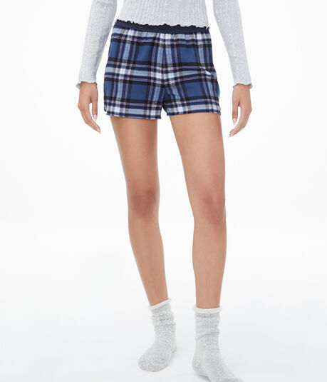 Plaid Glitter Shorts***