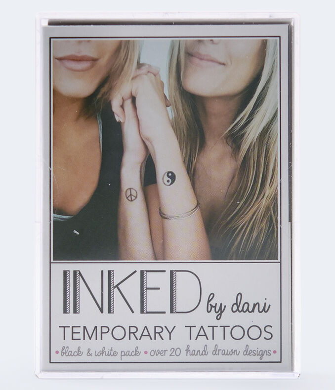 Inked By Dani Black & White Temporary Tattoos