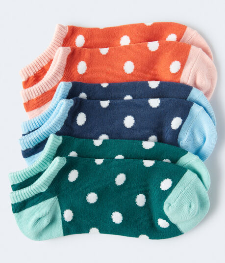 Colorblock Dot Ankle Sock 3-Pack