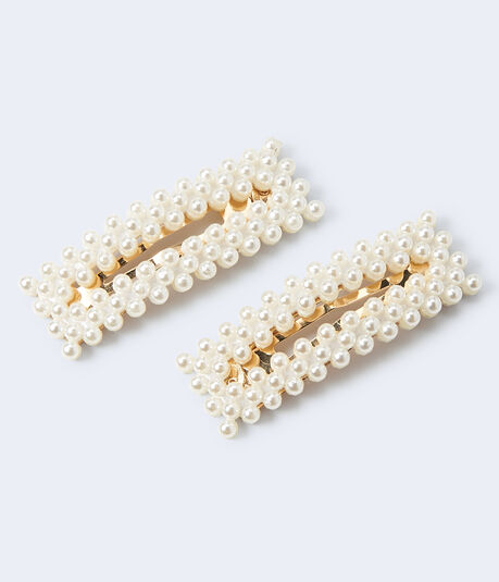 Pearly Snap Hair Clip 2-Pack