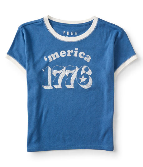 Free State 'merica 1776 Cropped Tee
