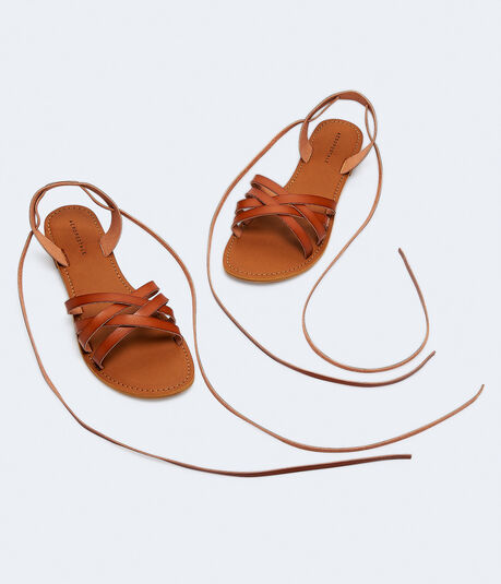 Strappy Ankle-Tie Sandals***