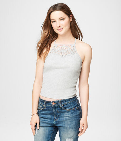Lace High-Neck Cami