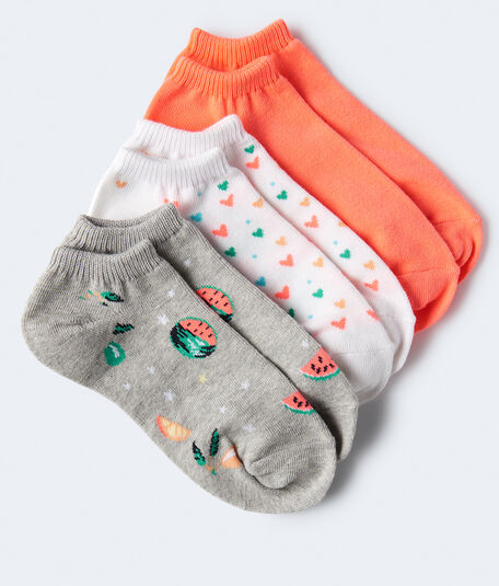 Watermelon Ankle Sock 3-Pack