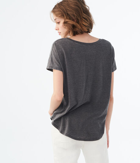 LLD Solid V-Neck Tunic Tee