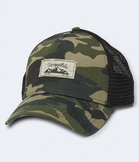 Aero Mountain Camo Adjustable Trucker Hat