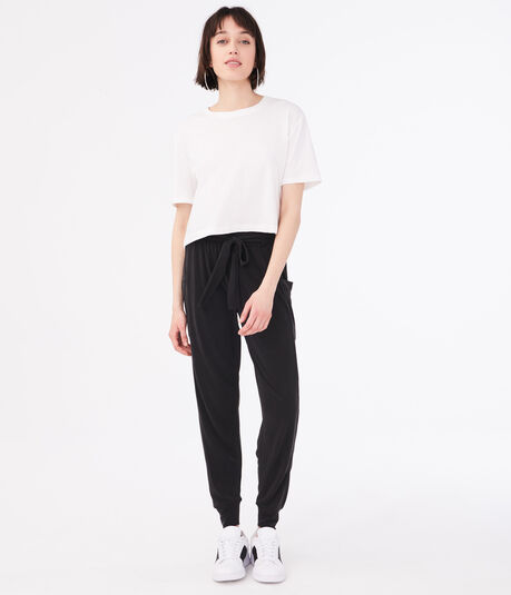 Slouchy Belted Joggers