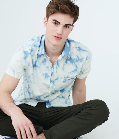 Bleached Out Woven Shirt