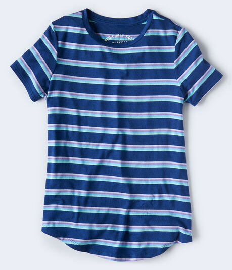 Seriously Soft Striped Crew Tee