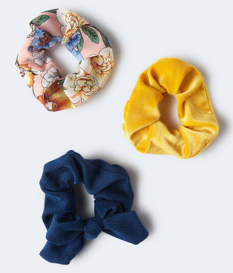 Corduroy Bow Scrunchie 3-Pack