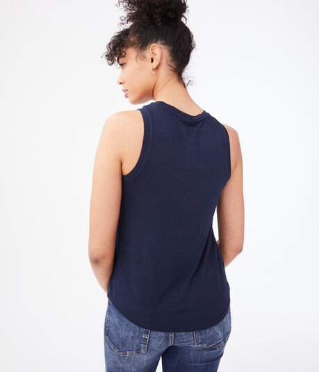 Seriously Soft Floral Embroidered Tank