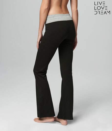 52d72964065be LLD Marled Waistband Bootcut Yoga Pants