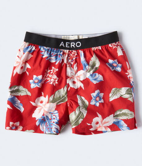 Tropical Floral Woven Boxers