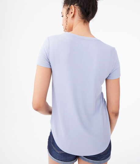 Seriously Soft Ribbed Crew Tee