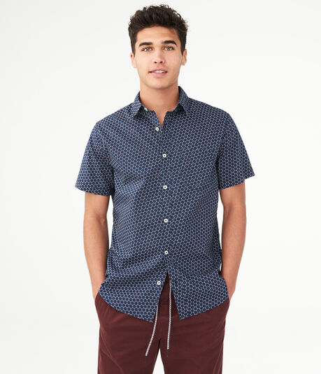 Geo Tile Button-Down Shirt