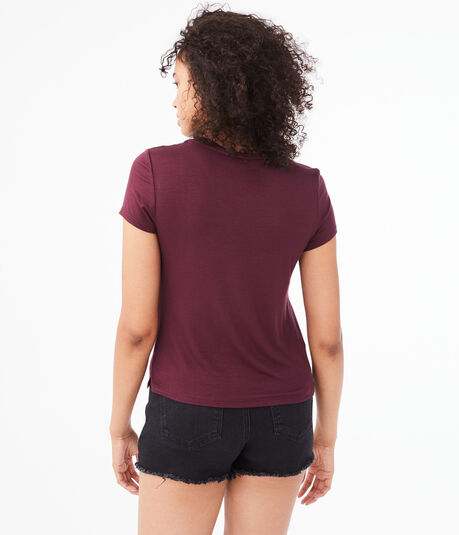 Seriously Soft Embroidered Hibiscus Girl Tee