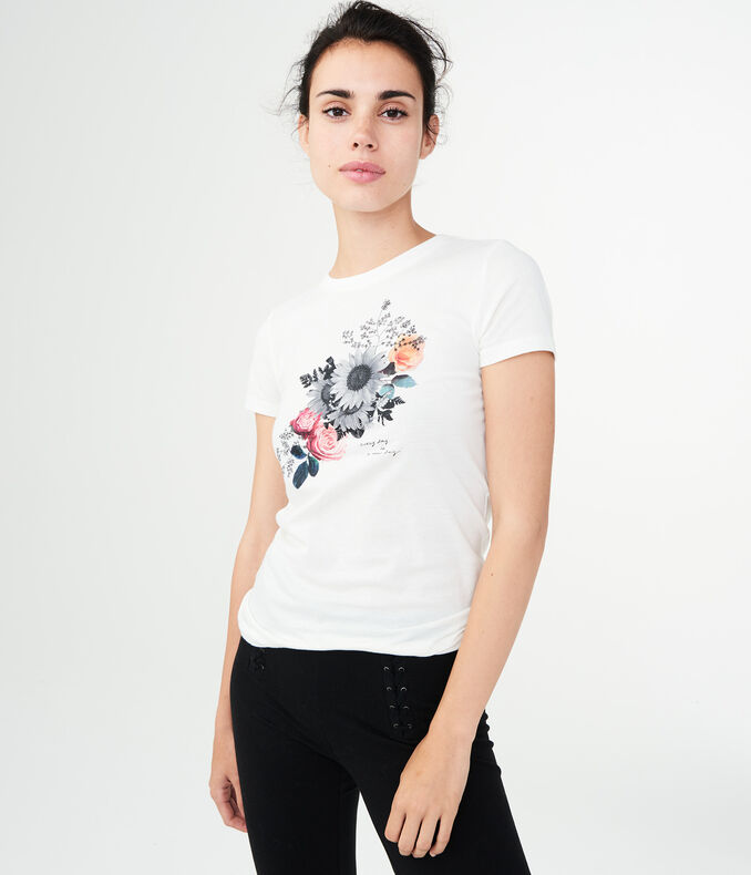 Free State Diagonal Floral Graphic Tee