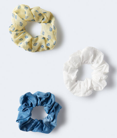 Denim Scrunchie 3-Pack