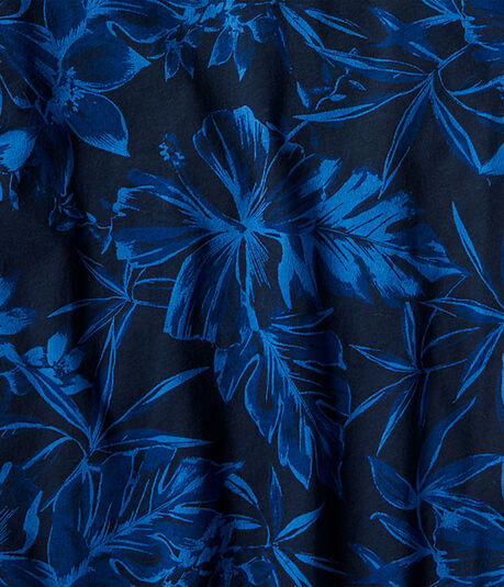 Tropical Floral Jersey Polo