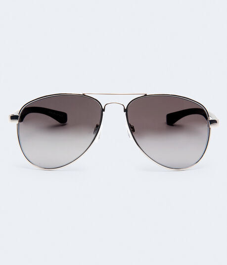 Mirrored Metallic Aviator Sunglasses