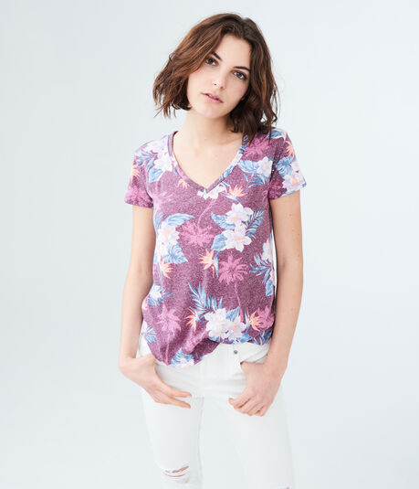 Seriously Soft Floral V-Neck Tee