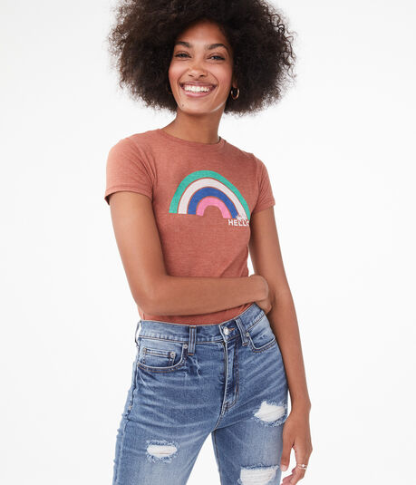 Free State Hello Rainbow Graphic Tee