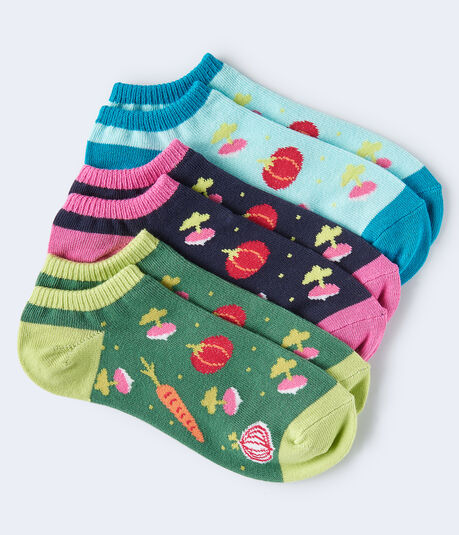 Veggies Ankle Sock 3-Pack***