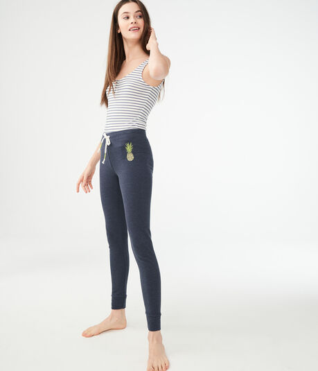 Pineapple Fleece Leggings
