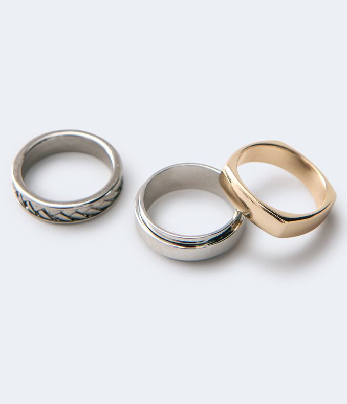 Square & Round Ring 3-Pack