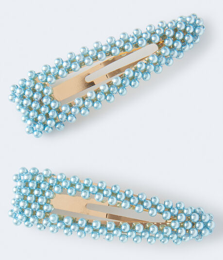 Faux Pearl Oversized Hair Clip 2-Pack