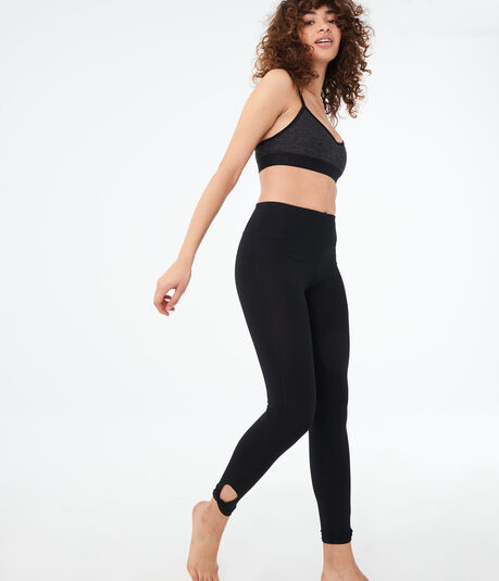 LLD Solid Keyhole-Ankle Leggings***