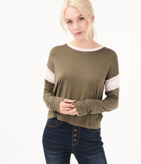 Long Sleeve Seriously Soft Striped Tomboy Tee