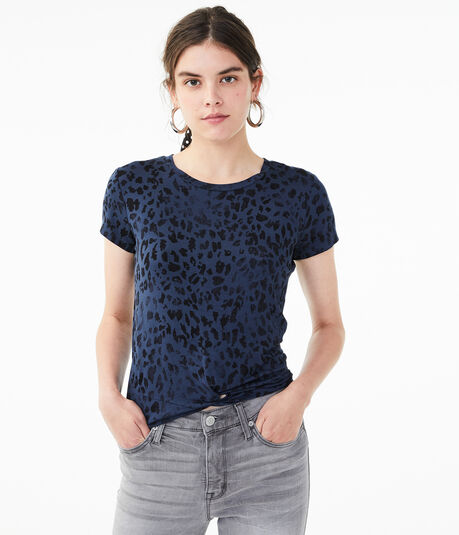 Seriously Soft Leopard Twist Girl Tee