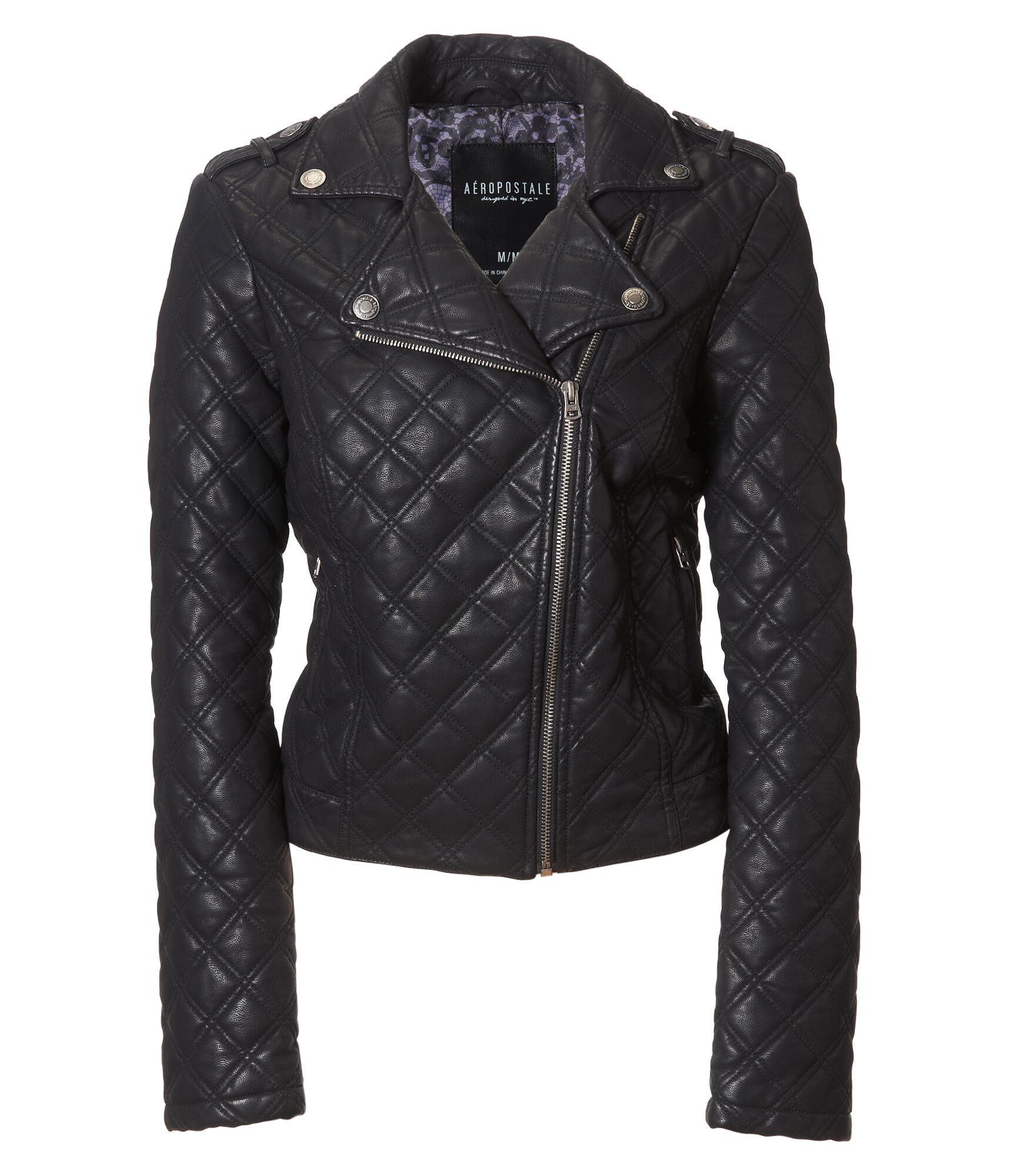 leather hover to faux faith quilted en jacket zoom quilt