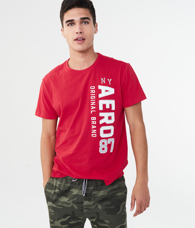 Vertical Aero 87 Logo Graphic Tee