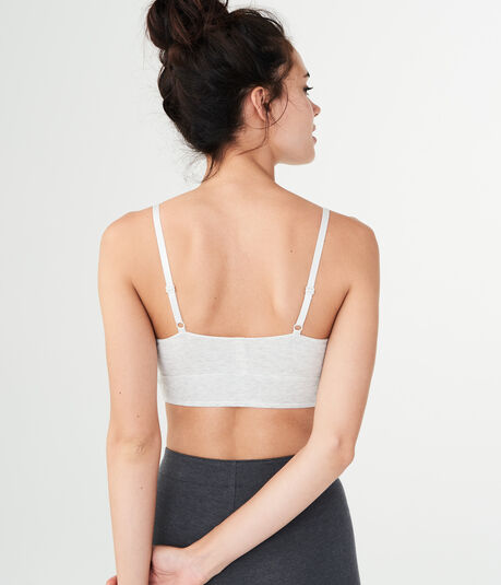 LLD Ribbed Lattice-Front Bralette