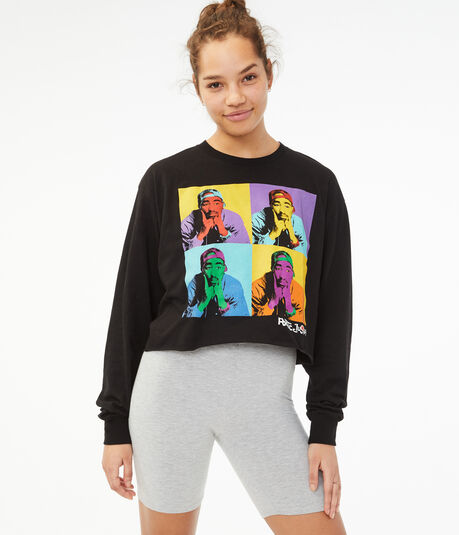 Long Sleeve Poetic Justice Cropped Graphic Tee