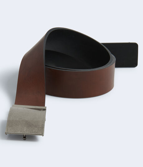 Reversible Faux Leather Belt